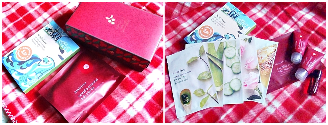 Innisfree masks and hair trial kits Singapore