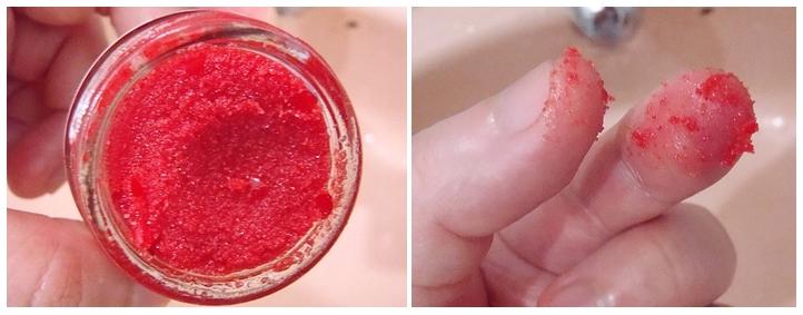 Lush Santa Lip Sugar Scrub Consistency
