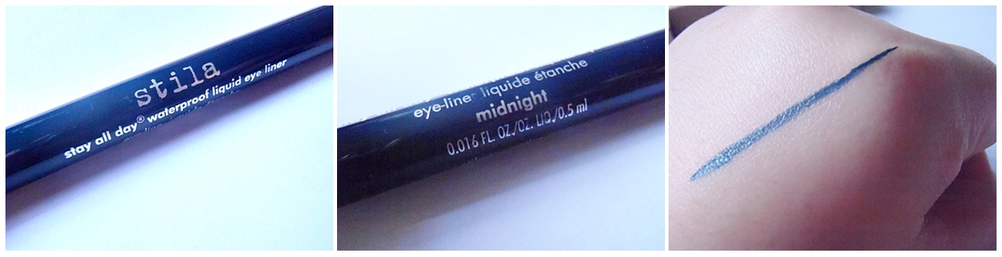 Stila Waterproof Liquid Eye Liner Swatch Review