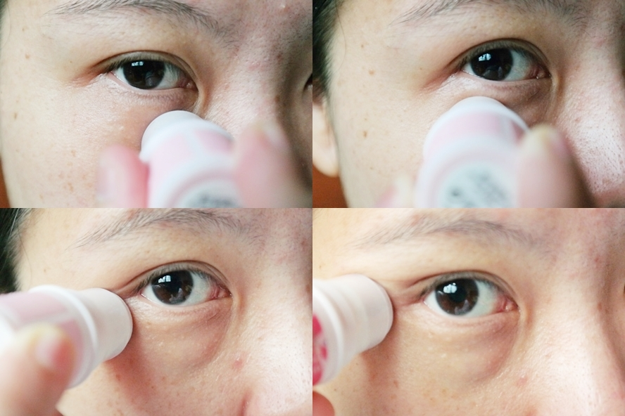 How to apply the Body Shop Vitamin E Eyes Cube