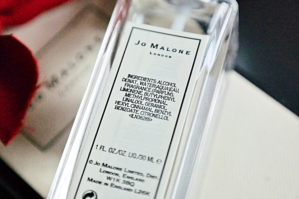Jo Malone Perfume Cologne Ingredients