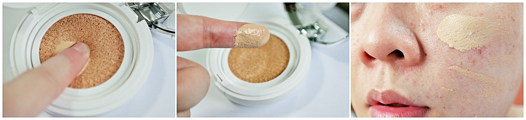 How to apply the Laneige BB cushion liquid foundation