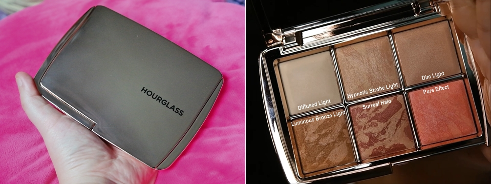 hourglass ambient lighting powder palette how to use